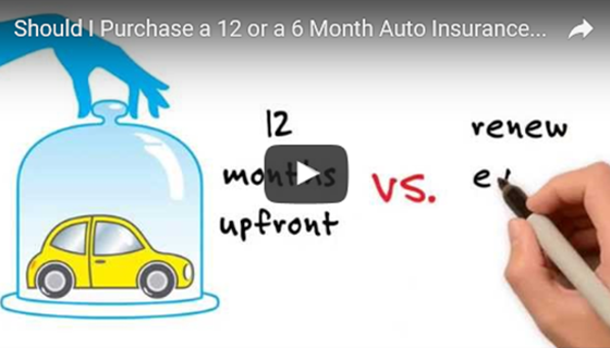 Buying a 12 or 6 month auto insurance policy - video screenshot
