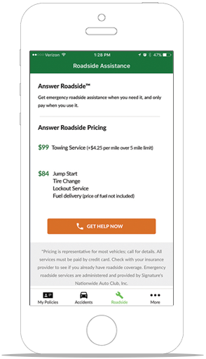 Answer Mobile® - Easily view auto insurance ID card online