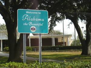 Welcome to Alabama sign
