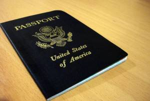 US passport placed on a table