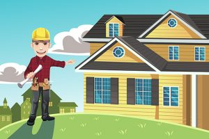 Home builder vector image