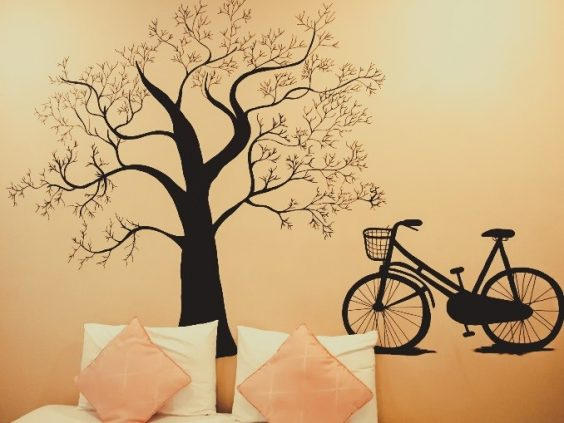 tree and bike wallpaper