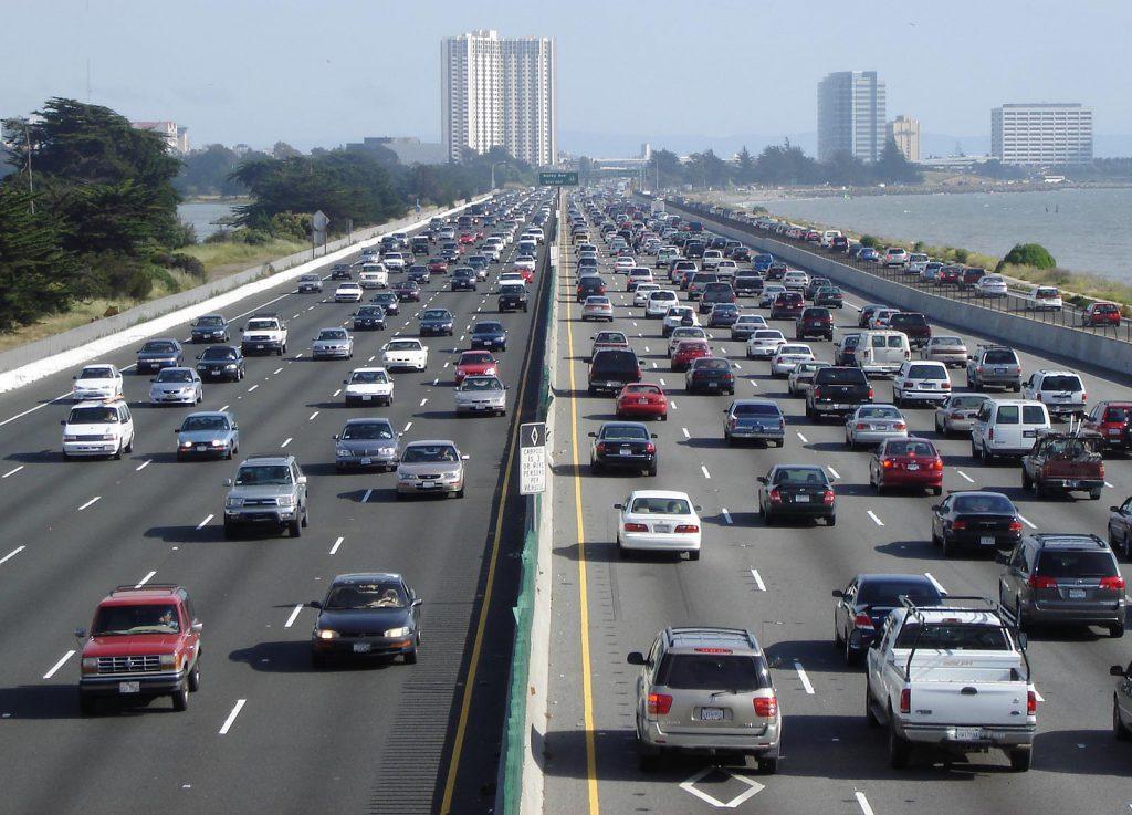 Traffic on the I-80